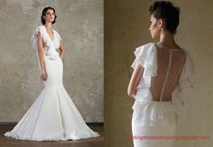 Wedding Dresses 2014 New Trend:Ruffled Neckline