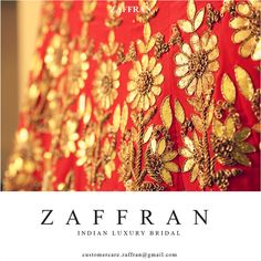 Luxury Indian bridal by ZAFFRAN | Contact: customercare.zaffran@gmail.com for lookbooks