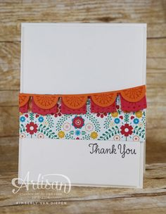 Free tutorials on my blog to create this card and a party favor using the Birthday Fiesta stamp set. StampinByTheSea.com - Cultivating Inspiration & Creativity