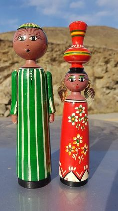 Wooden Dolls, Eclectic Decor, Vintage 70s, Boho Decor, Egyptian, Ethnic, Unique Jewelry, Handmade Gifts, Awesome