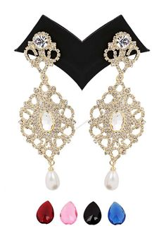Andaaz Fashion now presents new arrivals Asian Jhumka earrings with Awesome Quality  with price $18.50 and latest fashion trends .These jewellery are handmade and using alloy as the basic raw material which is jhumka shaped with golden colour and classy gold plated crystal earring with pearl drop.  For more beautiful Jewellery visit: http://www.andaazfashion.us/jewellery/earrings/work/studded-jewellery-earrings
