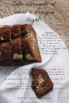 Cake variegato al cacao e vaniglia light by Una finestra di fronte, via Flickr