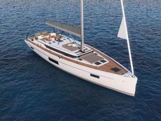 She will be the highlight of the Bavaria World at the boot Düsseldorf the new flagship from Giebelstadt, Bavaria, the Bavaria Low Deck, Guest Cabin, Yacht Design, Lounge Areas, Sailboats, Bavaria, Perfect Place, Sailing, Two By Two