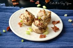 Savory Stuffed Mushrooms, perfect appetizer for holiday parties!
