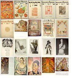 Milgroim - Yiddish Art Periodical, Berlin, 1922-24. Edited by Mark Wishnitzer and Baruch Krupnik. Artistic edition: Rachel Wishnitzer-Bernstein. Issues 1-6.