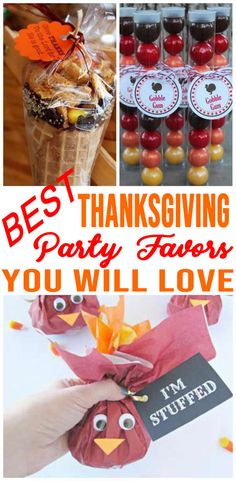 Thanksgiving Party Favors Easy DIY Thanksgiving Party Favor Ideas For Kids amp For Adults ndash BEST Goodie Bags amp More Fun Ideas ndash Fall Party Favors Thanksgiving Favors, Thanksgiving Crafts For Kids, Thanksgiving Parties, Holiday Parties, Thanksgiving Turkey, Thanksgiving Birthday, Thanksgiving Decorations, Turkey Birthday Party, 13 Birthday