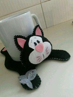 Gatinho porta xícara