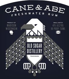 Cane & Abe freshwater small batch rum from Old Sugar Distillery