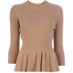 TORY BURCH Pleat detail sweater ($360) found on Polyvore
