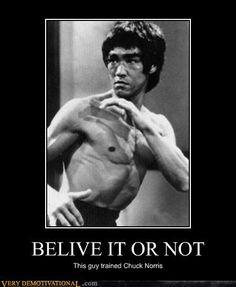 Bruce Lee > Chuck Norris