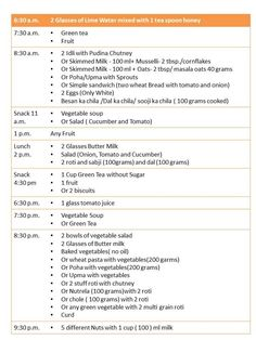 Diet Plan for Obesity 60 Days Healthy Indian Sample Menu