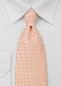 Light Orange Mens Necktie - Best paired with tan or navy suits. Perfect for sunny days and weddings