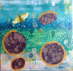 Pollinators an original painting by Susan Schwake