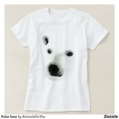 Shop Polar bear T-Shirt created by AnimalsForYou. Most Endangered Animals, Arrow Shirts, Bear T Shirt, Polar Bear, Wardrobe Staples, Colorful Shirts, Fitness Models, Mens Tops, How To Wear
