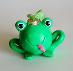 Items similar to Green Frog Ornament on Etsy Frog Ornaments, Handmade Ornaments, Xmas Ornaments, Handmade Gifts, Christmas Art Projects, Green Frog, Clay Animals, Frogs, Whimsical Christmas