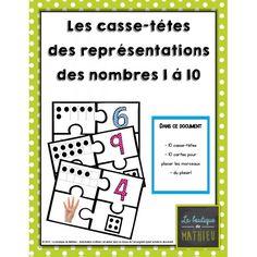 Les casse-têtes représentations nombres 1 à 10