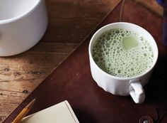 Swap out your morning coffee with this matcha (powdered green tea) latte recipe for an antioxidant boost.