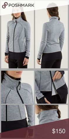 ❤Lululemon Herringbone Jacket❤ I don't think I've e we worn this, it looks brand new. I will only consider reasonable offers through the offer button, NO TRADES!   cottony-soft Luon fabric wicks sweat to help you cool down post-practice secure zipper pockets hold your phone, keys and cash thumbholes keep your sleeves in place and make layering easy park that zip in the zipper garage before it scratches your chin flat seams help prevent uncomfortable chafing lululemon athletica Jackets…