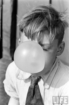 Bubble Gum~ Photo by Alfred Eisenstaedt~LIFE Magazine