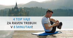 4 top vježbe za ravan trbuh u 8 minuta - Fit Tijelo Slim Stomach, Raven, Fitness, Youtube, Exercises, Ravens, Exercise Routines, Crows, Excercise