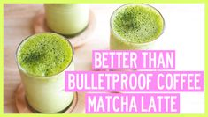 I'm sure you all know about bulletproof coffee but today, I'm going to be sharing with you my better-than-Bulletproof-coffee Matcha Latte recipe made with almond milk and ghee. This is perfect for those who don't drink coffee but still want an energizing drink without all the crashing! Check o