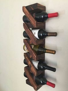 Rustic Wooden wine rack, handmade, home decor, aged wood, bar decoration, wine bottle holder