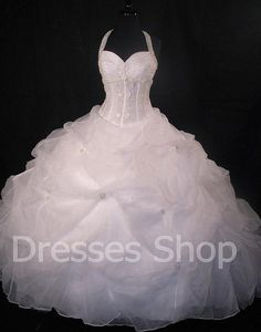 Charming Lace-up Princess Bridal Prom Ball Gown Formal Party Wedding Dresses Custom 2 4 6 8 10 12 14 16 & Plus Size