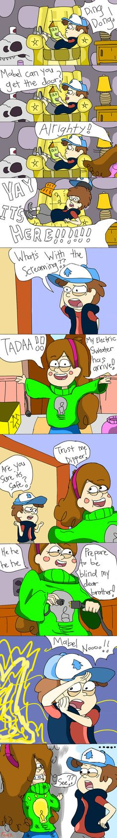 Gravity Falls - Mabel's Electric Sweater by Crescendolls187 on deviantART