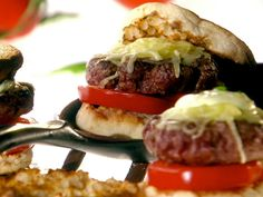 Perfect Summer Basil Burger from Melissa De'Arabian