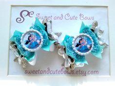 Jasmine & Alaadin Hair Bows Clips Ties by SweetandCuteBows on Etsy, $14.50