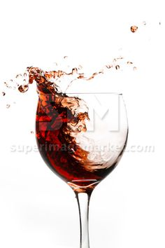 In the glass of red wine