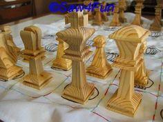 Large Chess Players Scroll Saw Pattern