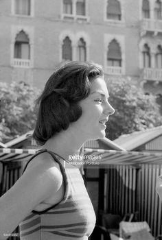 Countess Consuelo Crespi in the sunlight during the XVIII Venice International Film Festival. Venice, 1957