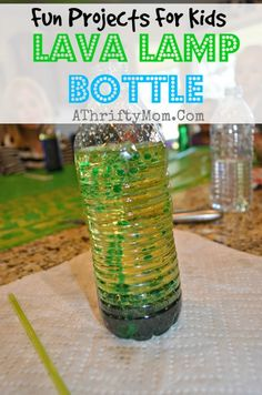 How to make a Lava Lamp Bottle, DIY kids projects, Lava Lamp with oil #LavaLamp