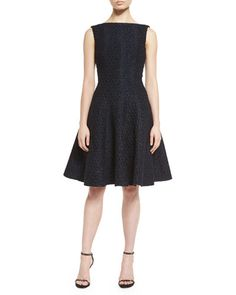 TAG90 Talbot Runhof Doha Sleeveless Bateau-Neck Cocktail Dress, Navy $1,595.00 Neiman Marcus