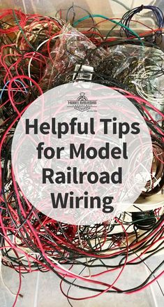 Wiring for a model railroad layout – it's a subject that can be easy or complicated. I like to manage my wiring so that later on, if need be, I'll be able to trace each wire back to its source.