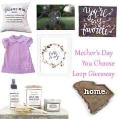 Only Southern Made is hosting a Mother's Day Loop Giveaway on Instagram on April 27, 2016. Follow us to learn more. We've got some great prizes - you'll want to win them all! #giveaway #MothersDay