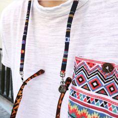 Sunglasses Cord Ethnic Print