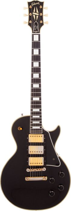 Musical Instruments:Electric Guitars, 1958 Gibson Les Paul Custom Black Solid Body Electric Guitar,Serial # 8 1241. ... Image #1