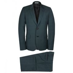 Paul Smith Mainline Dark Green Check Wool/Mohair Suit ($1,420) ❤ liked on Polyvore featuring men's fashion, men's clothing and men's suits