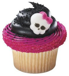 Monster High Skullette Edible Cupcake Topper