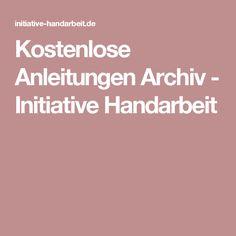 Kostenlose Anleitungen Archiv - Initiative Handarbeit
