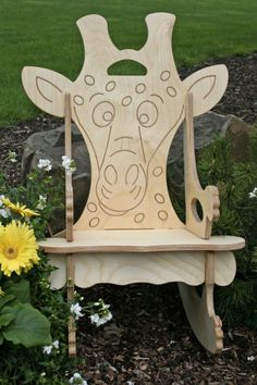 Adorable Wooden Giraffe Rocking Chair & Puzzle by Dixonwoodworking, $49.50