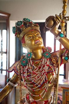 Inside Kechara Lounge is sacred Vajra Yogini. She is five feet in height and ornamented in a traditional manner. Anyone who enters Kechara Lounge will be blessed by Her.