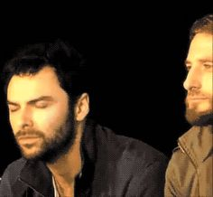 """(gif) Aidan?  What's with the face?? haha ~ His response to """"Who is the biggest prankster?"""""""