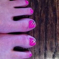 Beautiful toe nail design