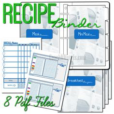 21 Day Fix: Meal Plan Recipe Binder