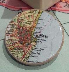 Aberdeen Map Brooch by Compass Alba | Flickr - Photo Sharing!