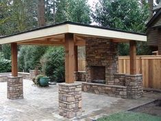 covered outdoor fire pit Outdoor Living, Outdoor Fireplace, Fire Pit,