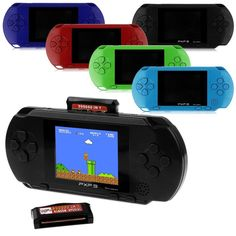 PXP3 Portable Handheld Video Game System with 150+ Games - $19.99. https://www.tanga.com/deals/eab777692ce7/pxp3-portable-handheld-video-game-system-with-150-games